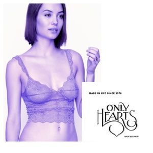 Only Hearts Dark Purple Lace Cropped Cami